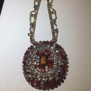 Vintage Czech Bijoux M.G. Rhinestone necklace